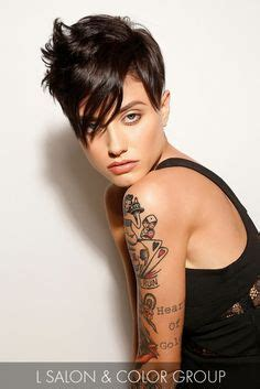 dancing with the stars side swept bang ebony 1000 images about short hair pixie cuts on pinterest