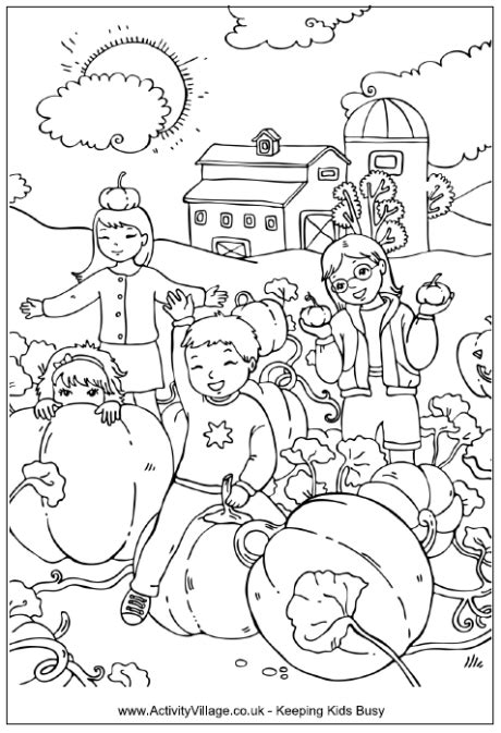 pumpkin patch coloring page printable the graphics fairy pumpking patch colouring page