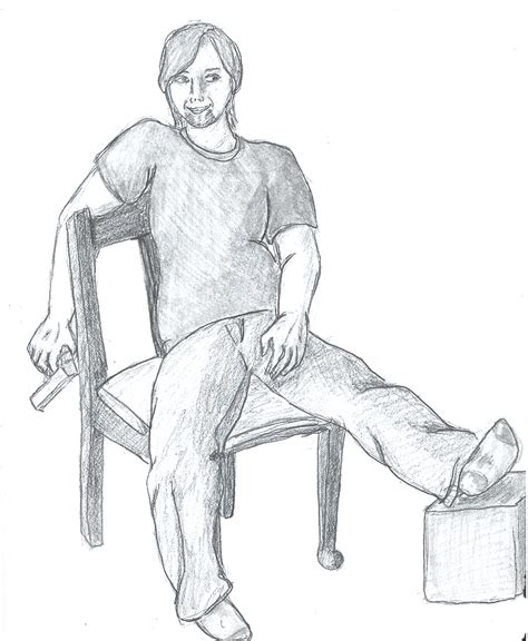 how to draw people sitting on a bench drawing test person sitting by ellacatticus on deviantart