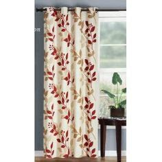 red and beige curtains my country dining room on pinterest window seats dining