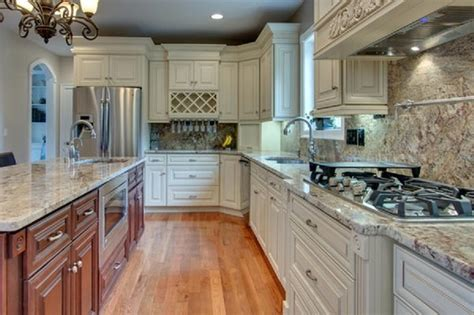 maple creme cabinets with glaze traditional kitchen