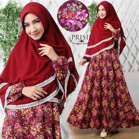 Gamis Katun Jepang Gz 137 baju gamis katun jepang b023 model busana muslim modern