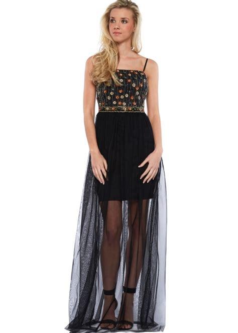 beaded bodice maxi dress goddess black mesh maxi dress with beaded bodice