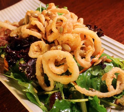 fried calamari salad calamari salad recipe dishmaps