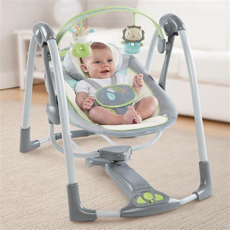 baby swing australia ingenuity power adapt portable foldable automatic baby