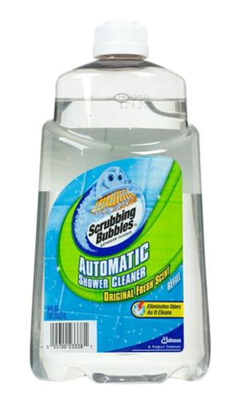 automatic bathtub cleaner scrubbing bubbles original fresh scent automatic shower
