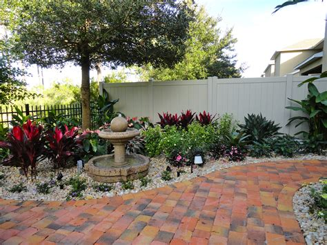 florida landscape design ideas courtyard features