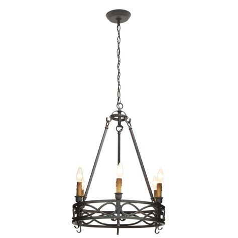 World Imports Chandelier World Imports Capra Collection 6 Light Rust Chandelier With Distressed Ivory Accents Wi974042