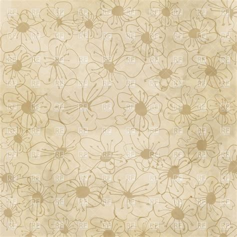 pattern background free vector download floral pattern on old paper background royalty free vector
