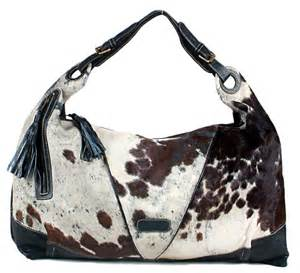 cowhide real leather large western rodeo hobo handbag - Cowhide Handbag
