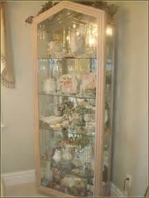 White Display Cabinet With Glass Doors White Curio Cabinet Glass Doors Home Design Ideas