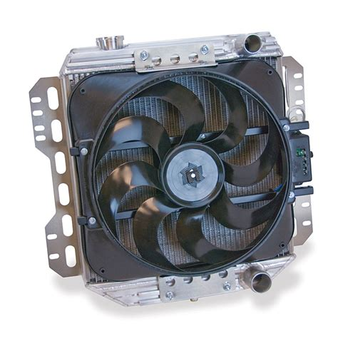 aluminum radiator with electric fan flex a lite automotive direct fit flex a fit aluminum