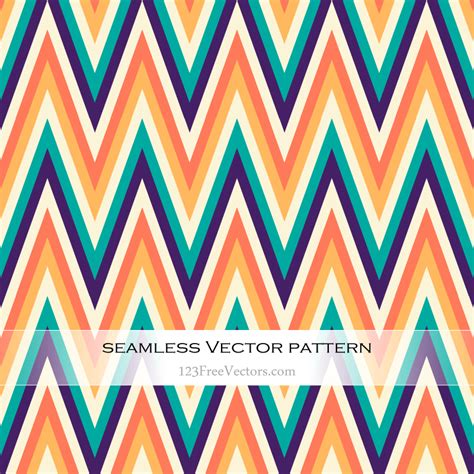 vector pattern with colorful blobs free colorful chevron pattern vector art 123freevectors
