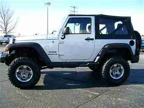 Jeep Wrangler 33 Inch Tires Find Used 2011 Jeep Wrangler Sport Factory Lifted Soft Top