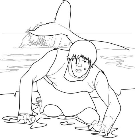 Jonah Jonah And The Big Fish Coloring Page