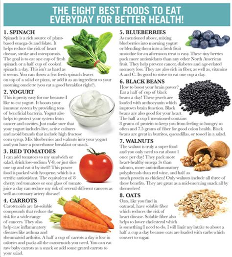best healthy foods to eat everyday eight best foods to eat everyday paperblog