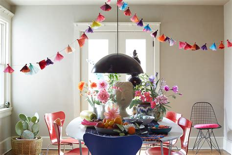 Handmade Paper Nyc - an easter table in blooming color decorating lonny