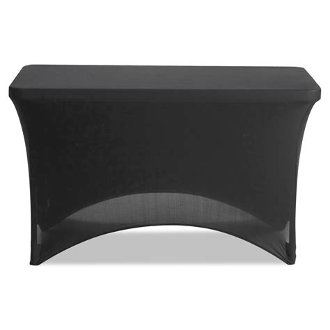 black stretch table covers stretch fabric table cover by iceberg ice16511