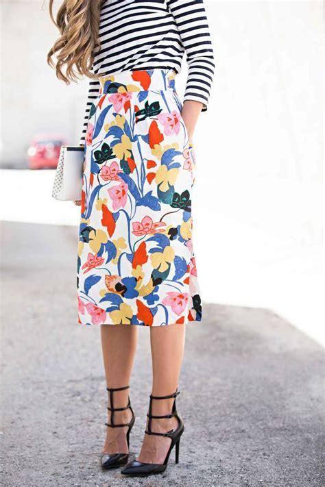 Striped And Floral Skirt 25 great ideas about floral skirt on