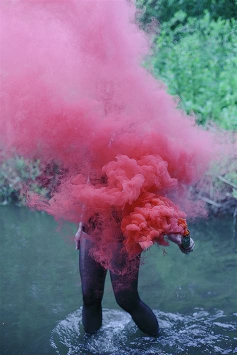 colored smoke on