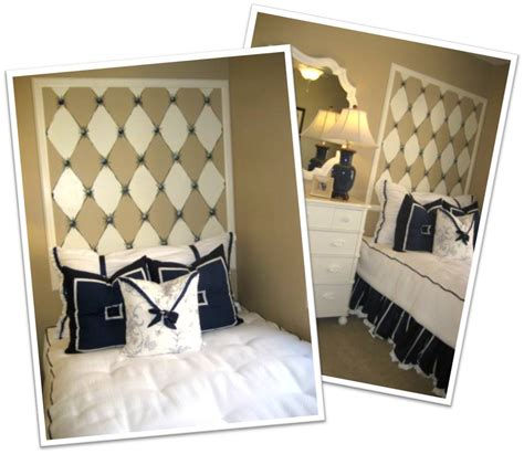 Diy Diamond Headboard Faux Tufted Headboard Off The Wall