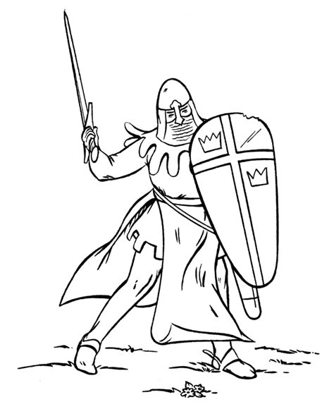 coloring page of knight in armor medieval knights coloring pages 041212 187 vector clip art