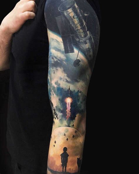 space telescope tattoo sleeve best tattoo ideas gallery