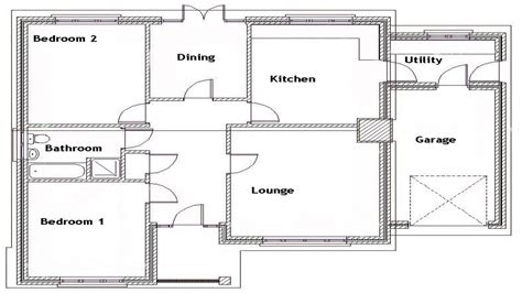 floor plan 2 bedroom bungalow 2 bedroom bungalow floor plan craftsman bungalow bedroom 2