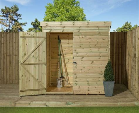 garden shed shiplap pent roof tanalised pressure