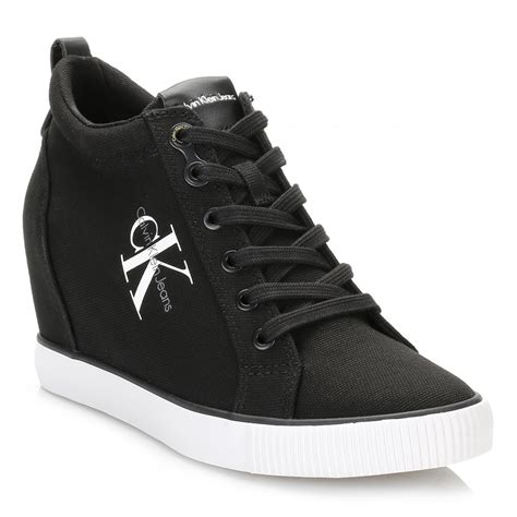 calvin klein sneakers womens calvin klein womens trainers ritzy canvas lace up casual