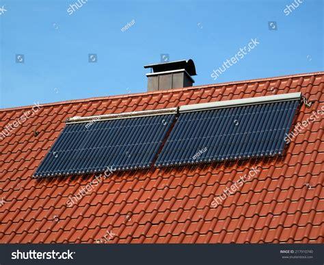 was heißt ökologisch solar pipes on roof solar energy stock photo 217910740