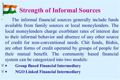 Formal And Informal Sources Of Credit Meritnation Empowering Sh Gs