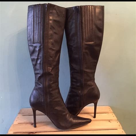 87 colin stuart boots pointy toe stiletto knee high
