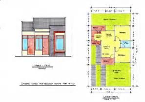 gambar 1 denah layout dan tak depan rumah type 45 klik pada