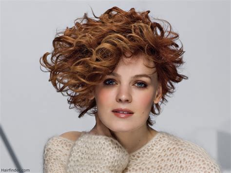 curly asymmetrical bob hairstyle gallery asymmetrical short curly haircut