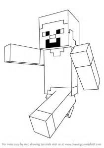 Minecraft Character Drawing Template by Learn How To Draw Steve From Minecraft Minecraft Step By