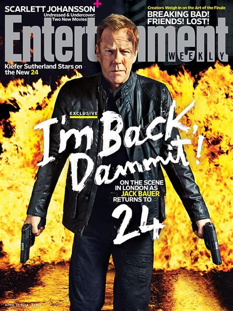 Bauer Is Back by 24 Is Back In Copertina Su Entertainment Weekly