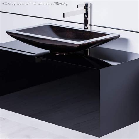 40 inch black bathroom vanity with rectangular vessel sink