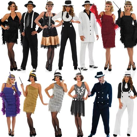 mafia party hair style 20s fancy dress mens ladies 1920s gangster costume