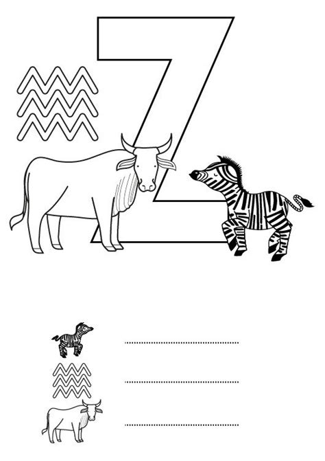 imagenes en ingles con la letra z letra z dibujo para colorear e imprimir