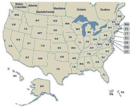 map of states in usa and canada maps of united states and canada