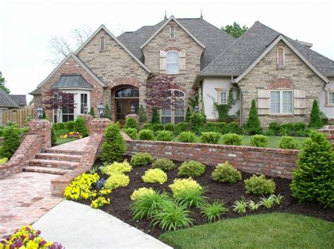 bl front yard island landscaping ideas