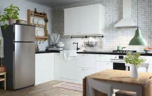 ikea kitchen idea all you need to add is an apple pie cooling on the