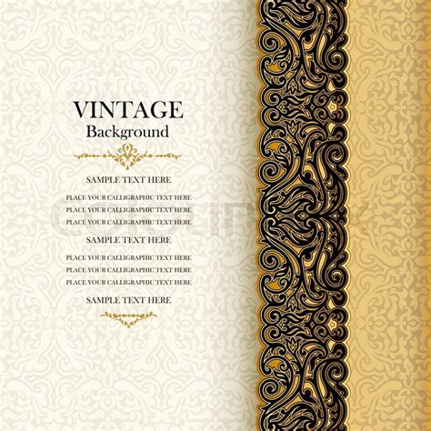 Vintage background, antique invitation card, royal