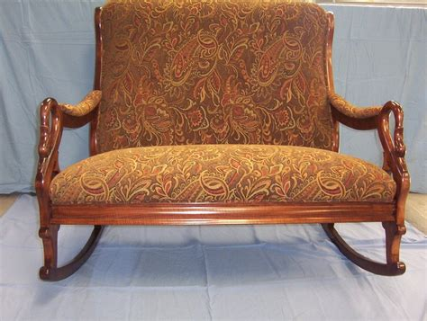 Two Person Rocker Recliner by Two Person Rocking Sofa Antique Vintage Antique