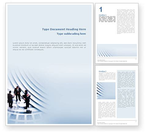 business templates for word business agreement word template 02163 poweredtemplate