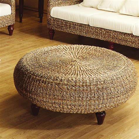 rattan round ottoman furniture interior traditional round coffee table ashley