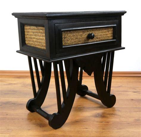 Handmade Tables Uk - asian rattan bedside table handmade thai drawer chest