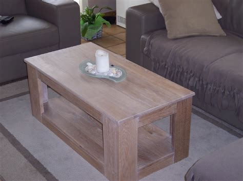eiken tafel vernissen eikenhout en hoogglans wit salontafel
