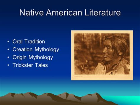 themes in oral literature native american literature ppt download